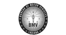 black and white BMV logo