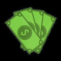 4 green bills icons