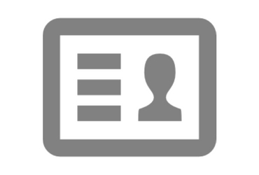 grey driver's license icon