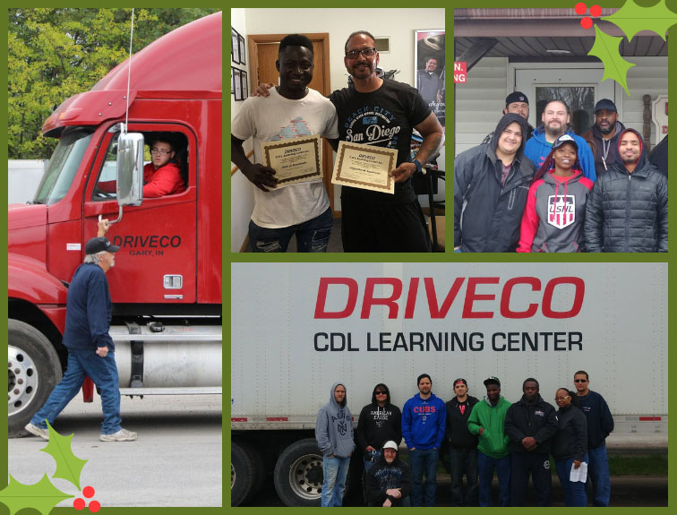 A collage of DriveCo students