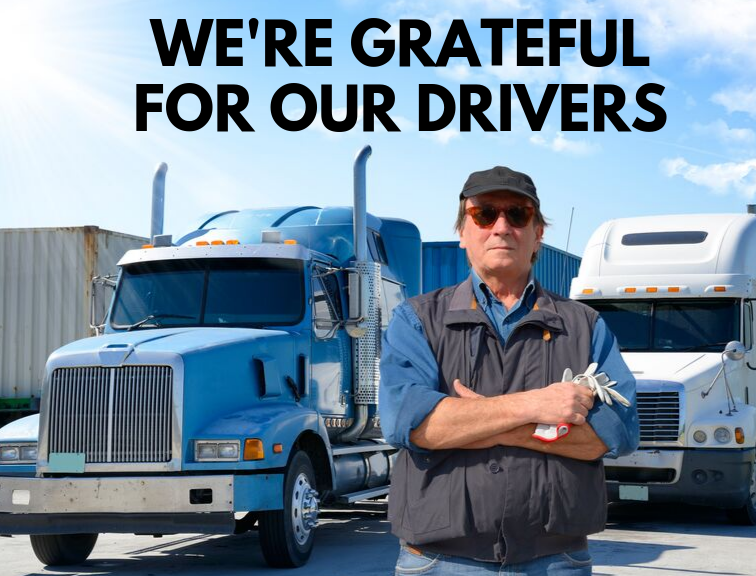 We're Grateful For Our Drivers