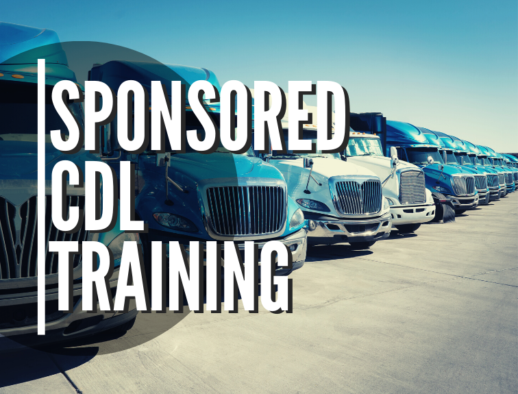 Sponsored CDL Training with Trucks in a Row